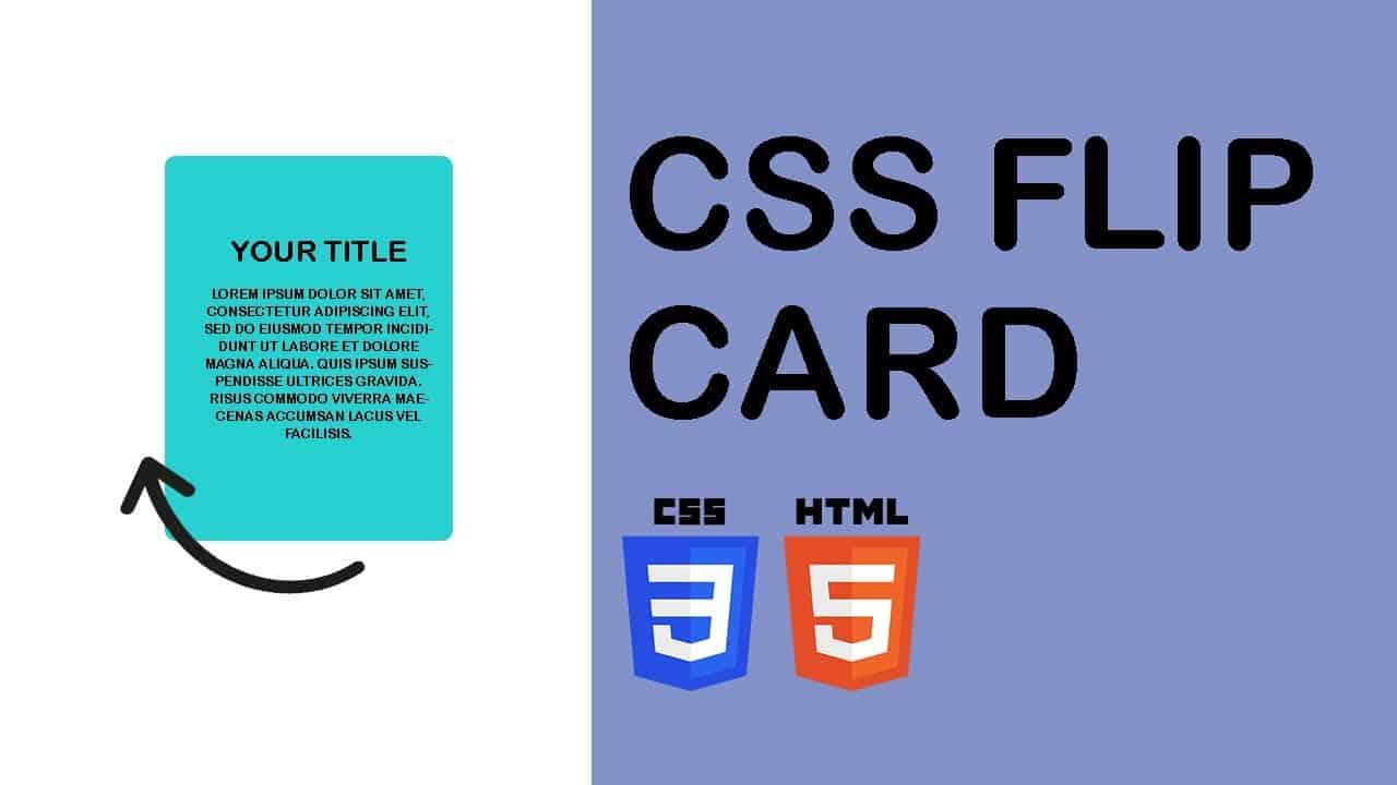 CSS Flip Card Tutorial | HTML & CSS Only | Web Cifar 2020
