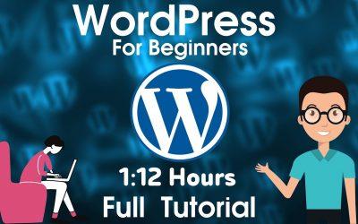 Do It Yourself – Tutorials – (2020) WordPress Tutorial For Beginners   Website Design in WordPress Build a Website in 1 Hour