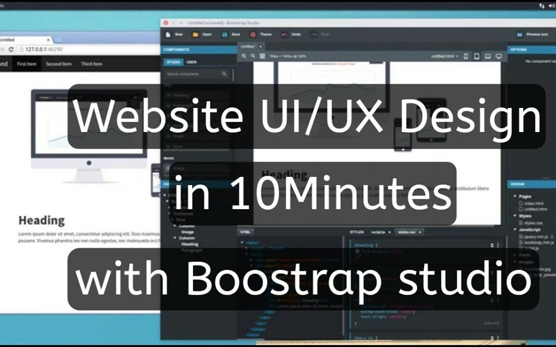 Create a Professional website within 10Minutes | Boostrap studio tutorial