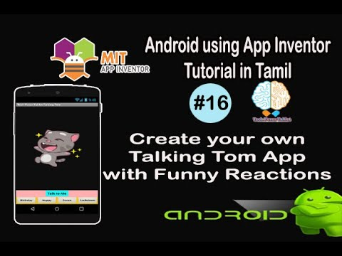 Create your own Talking Tom App with funny reactions | Android Tutorial in Tamil | Tutorial #16