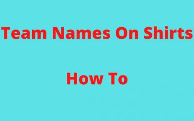 Do It Yourself – Tutorials – Design Your Own Shirt With Team Names