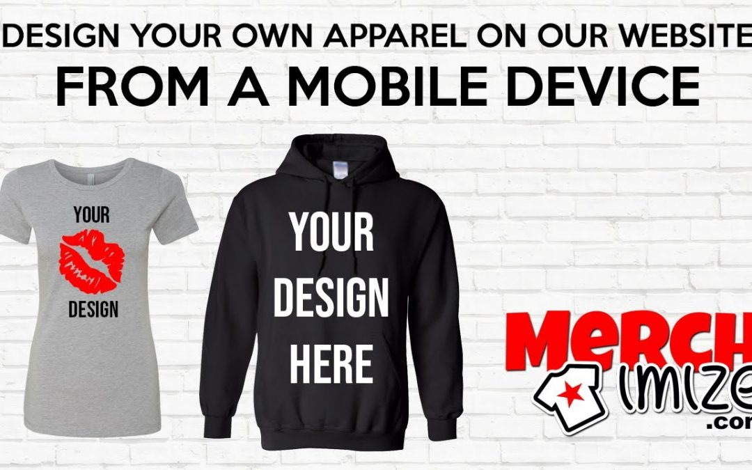 Design Your Own Tees Hoodies Tanks Joggers and more Apparel on our website from your mobile device