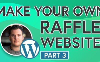 Do It Yourself – Tutorials – Easily Build Your Own Raffle Website [PART 3] – Add Logo & Change Colour Scheme
