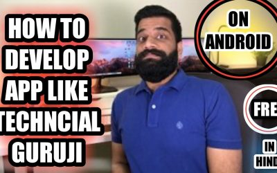 Do It Yourself – Tutorials – How To Develop App Like Technical Guruji Free On Android In Hindi Full Tutorial !No Coding  2018 TG 