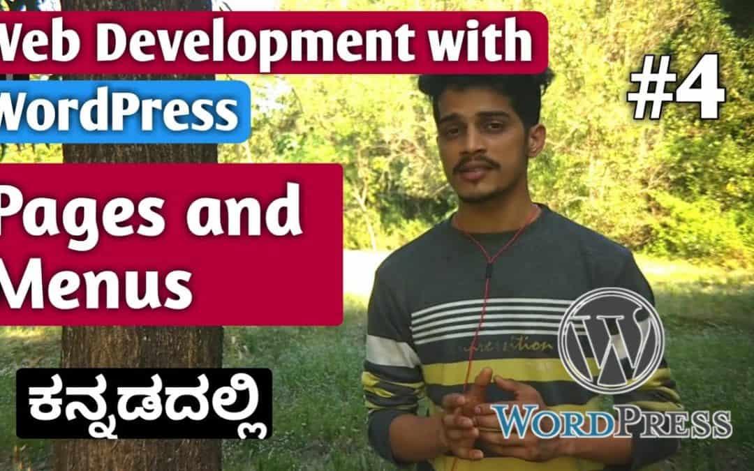 [Kannada]Tutorial 4:  Pages and Menu   Web Development with WordPress 2020   Kirik Tech
