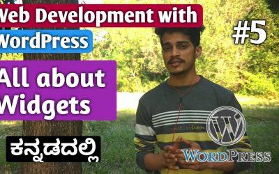 Do It Yourself – Tutorials – [Kannada]Tutorial 5:  All about Widgets   Web Development with WordPress 2020   Kirik Tech