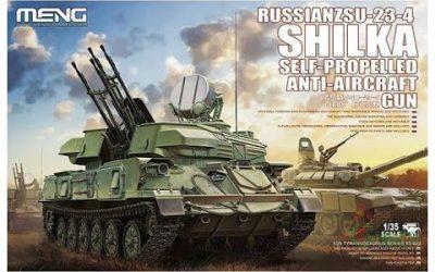 Do It Yourself – Tutorials – MENG : Russian ZSU-23-4 Shilka : 1/35 Scale Model : In Box Review