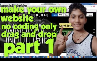 Do It Yourself – Tutorials – Make your own website ll how to make a website ll (part 1)