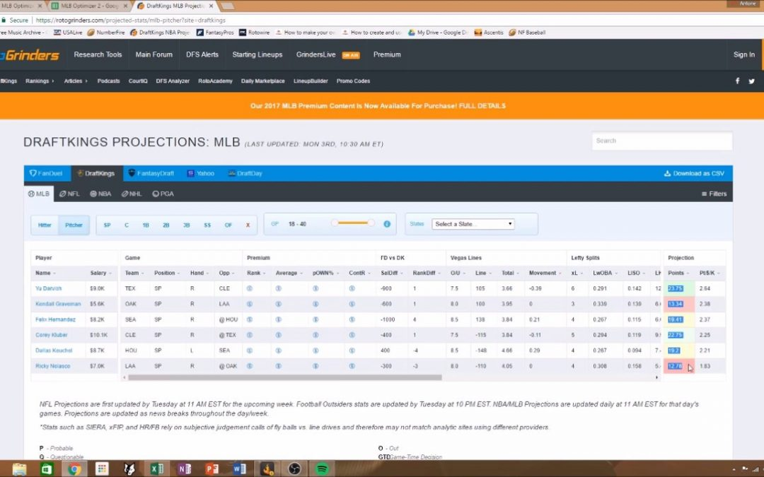 TUTORIAL: Build Your Own DraftKings MLB Optimizer/Projection Google Sheet!
