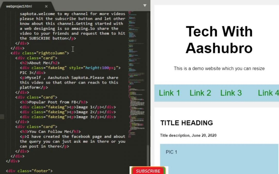 Website Designing With HTML,CSS || Simple Demo With Code||