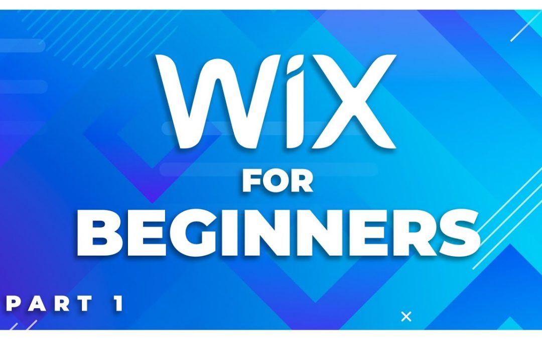 Wix website tutorial for beginners! Part 1 of 5