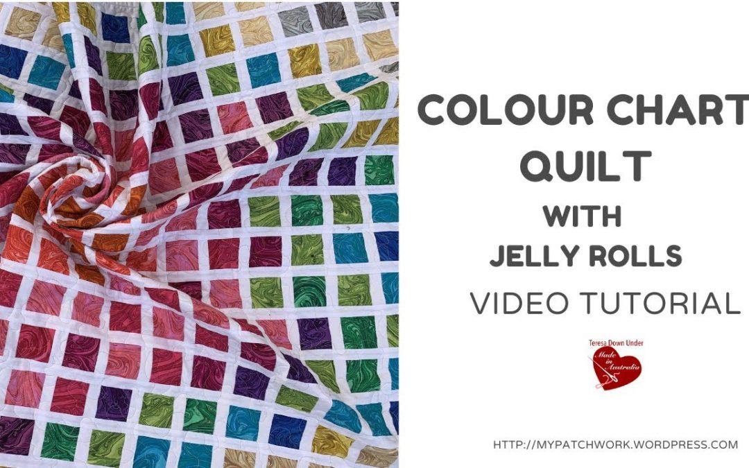 Colour chart quilt - video tutorial