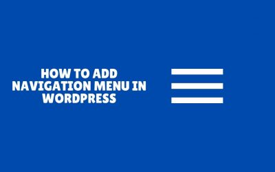 WordPress For Beginners – How to Add Navigation Menu in WordPress