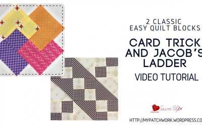 WordPress For Beginners – Jacob's ladder and card trick: two classic quilt blocks video tutorial