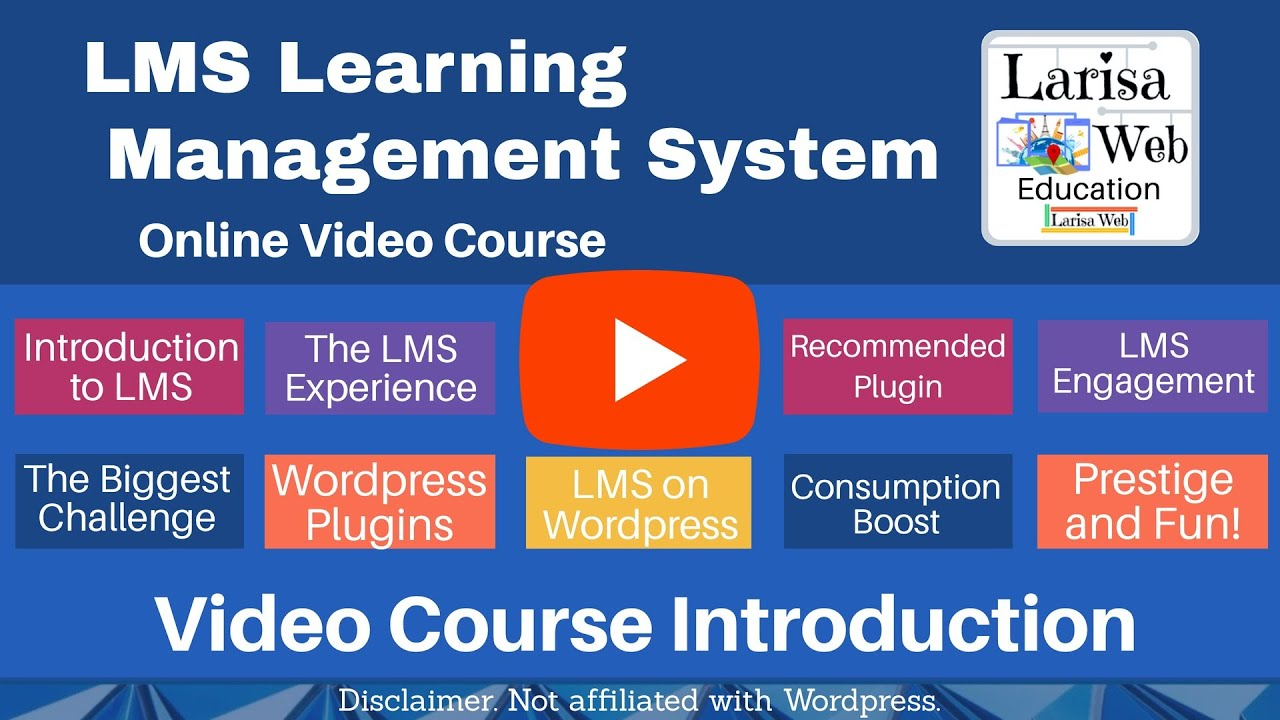LMS Learning Management System Wordpress Video Tutorial