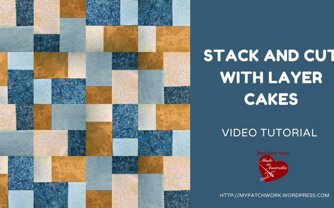 Stack and cut layer cakes - video tutorial
