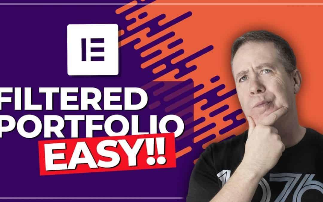 WordPress Portfolio Tutorial with Elementor Pro (Filterable)