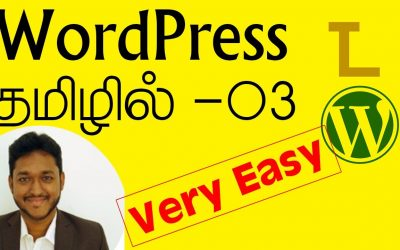 WordPress For Beginners – WordPress Tamil Tutorial Part 03 –  themes & logo  | Techiyal
