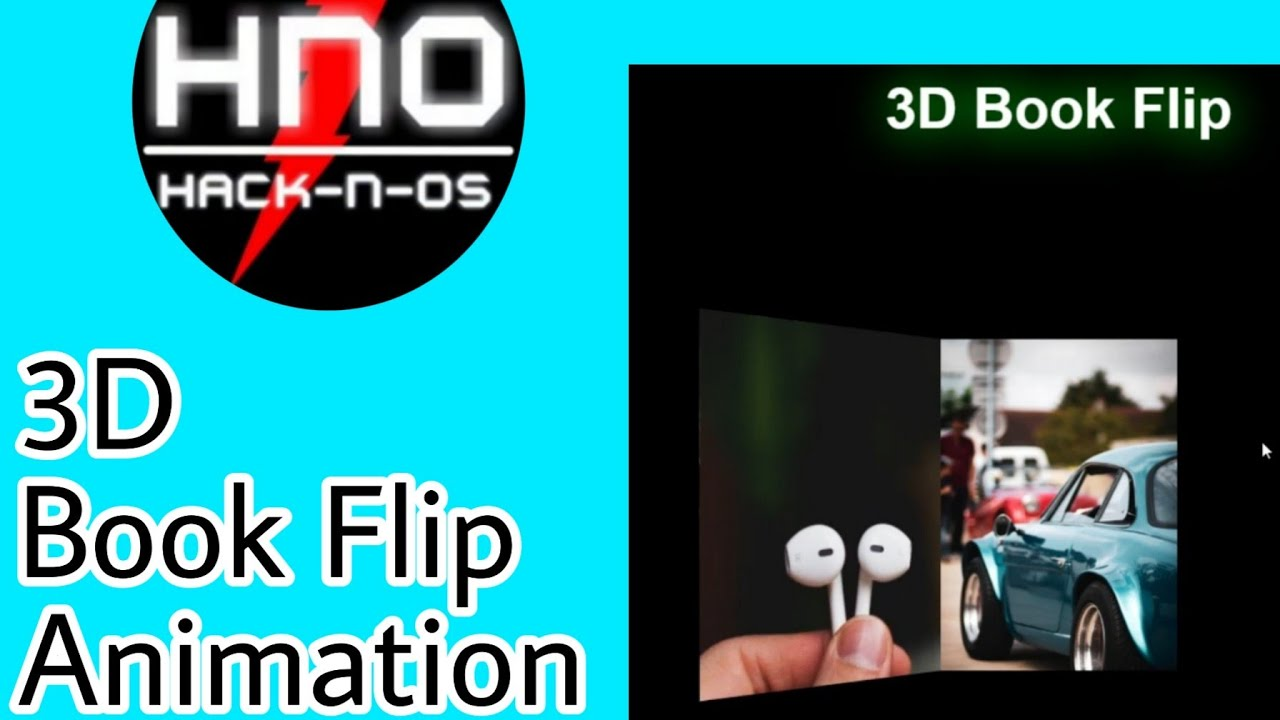 3D Book Flip Animation | Pure HTML, CSS | Hack-n-Os
