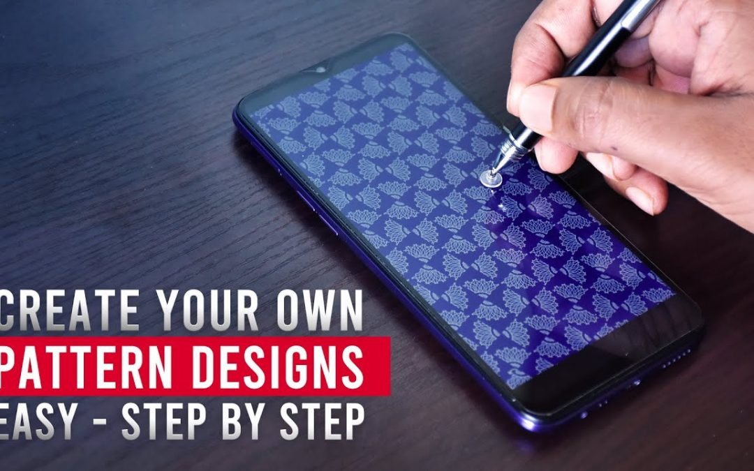 How to create your own pattern designs Easy (Mobile) infinite painter tutorial - CG Guru