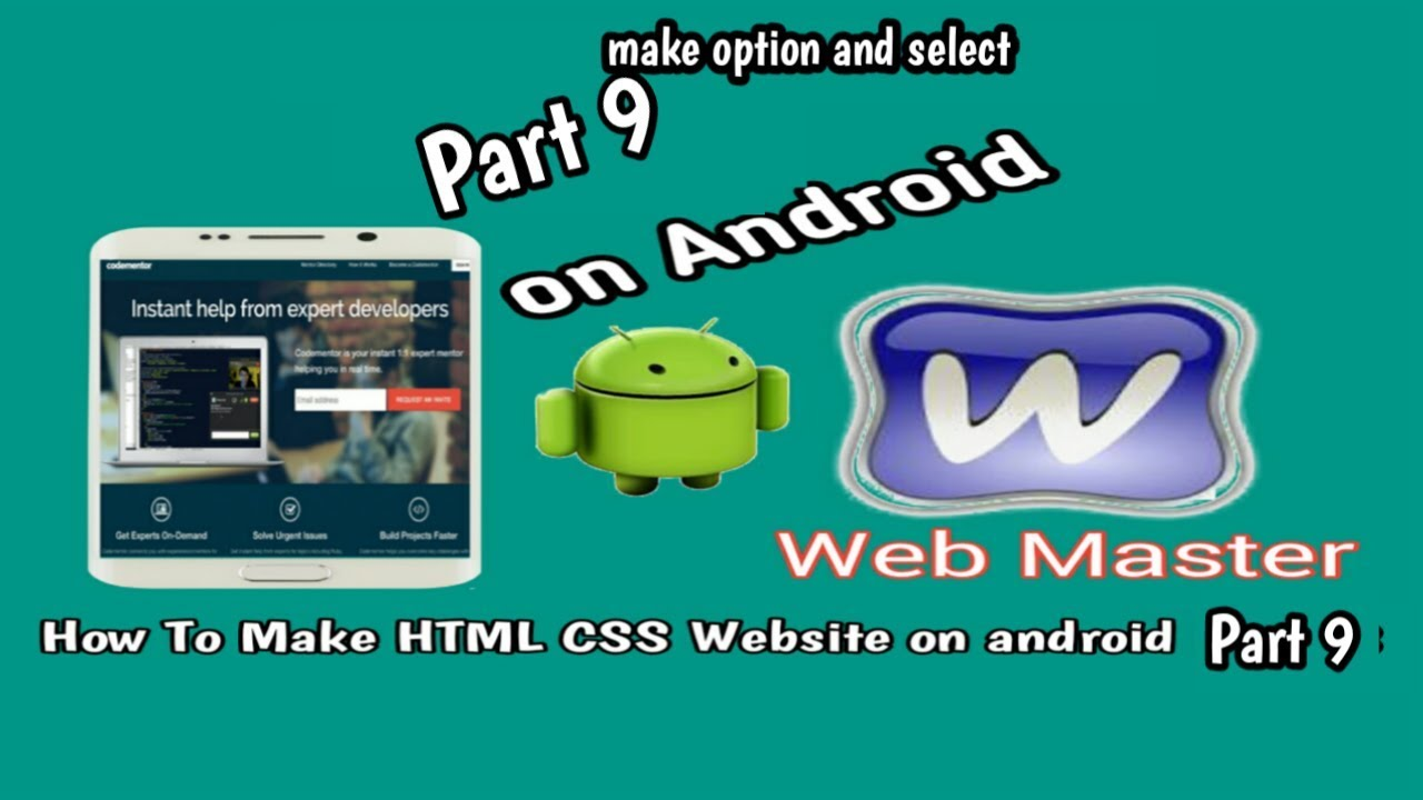 [How To make HTML CSS website on android part 9] make select with HTML on android Device