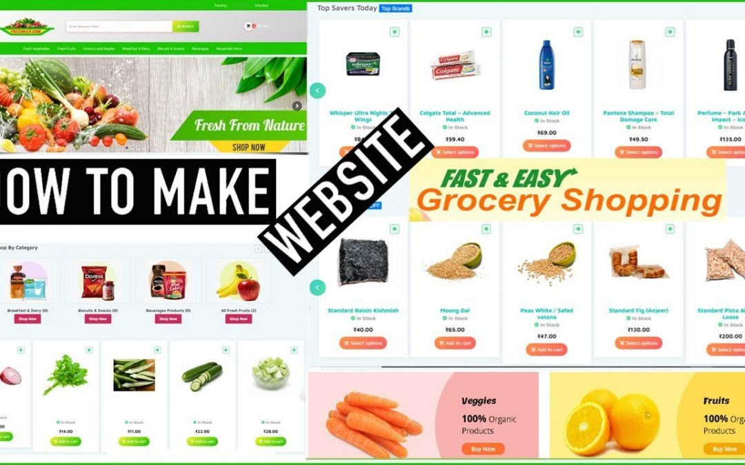 How to Make a Website? || eCommerce Website || Grocery Store Apps By Capital Tech
