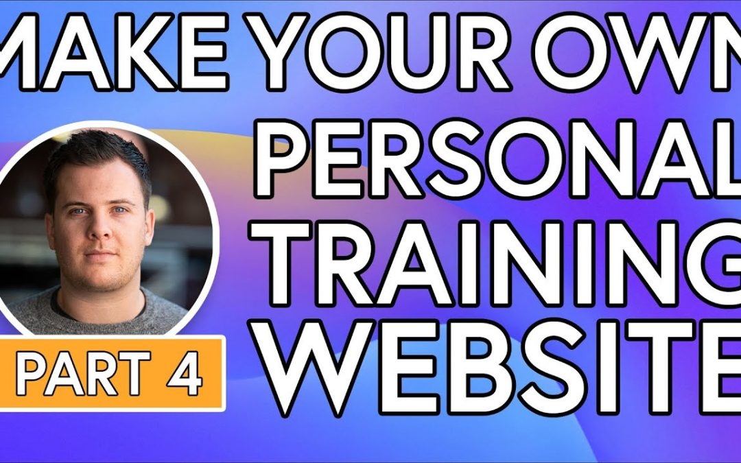 Build Your Own PT Website - No Coding [PART 4] - Update Text, Imagery & create illustrations online