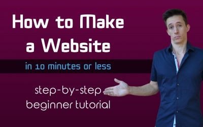 Do It Yourself – Tutorials – How To Build a Website for Dummies (in 10 mins or less) 2020