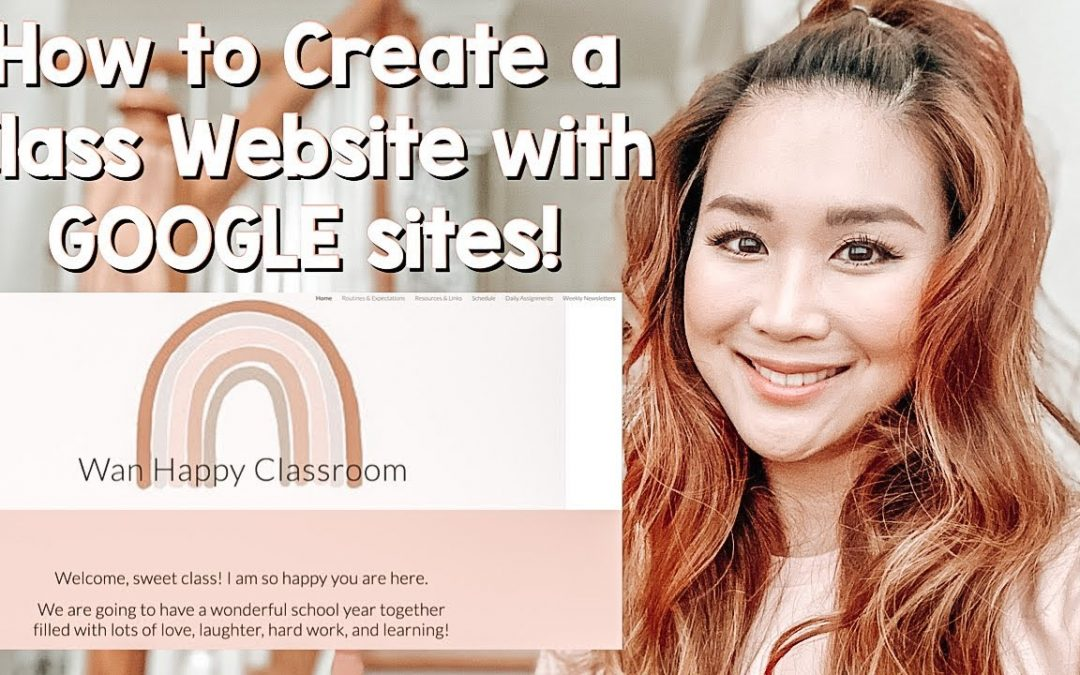 How to Create a Google Sites Class Website Page Tutorial | Virtual Learning and/or Face-to-Face