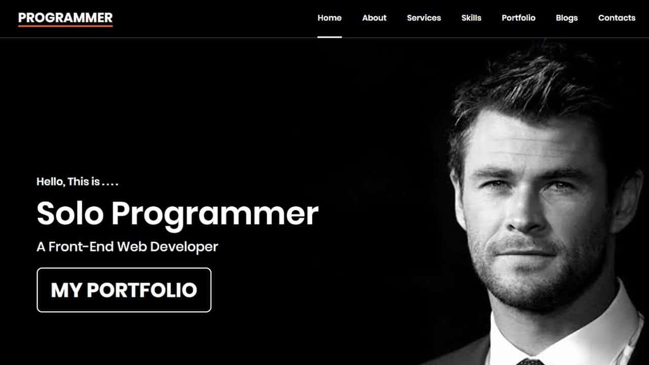 #06 Portfolio website using HTML CSS and JS | Amazing Portfolio website | Solo Programmer | #ssp