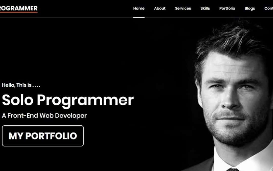 #07 Portfolio website using HTML CSS and JS | Amazing Portfolio website | Solo Programmer | #ssp