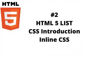 Do It Yourself – Tutorials – #2 HTML List | Introduction to CSS in Hindi/Urdu | Inline CSS | HTML5 Tutorial For Beginners