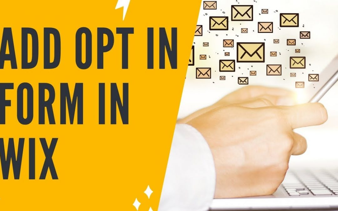 ADDING AN EMAIL OPT IN FORM IN WIX