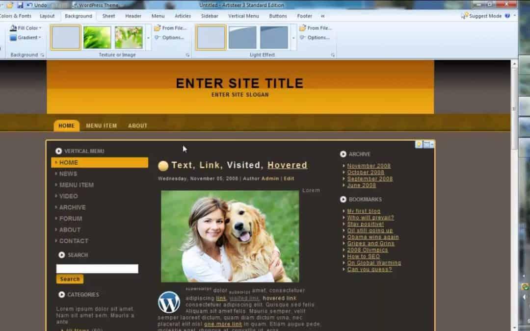 Artisteer 3.0 Web Design Tutorial & Overview WordPress, Joomla, Drupal