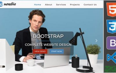 Do It Yourself – Tutorials – Build A Complete Bootstrap Website with HTML5, CSS3, Bootstrap 4 & VS Code – Bootstrap 2020 Design