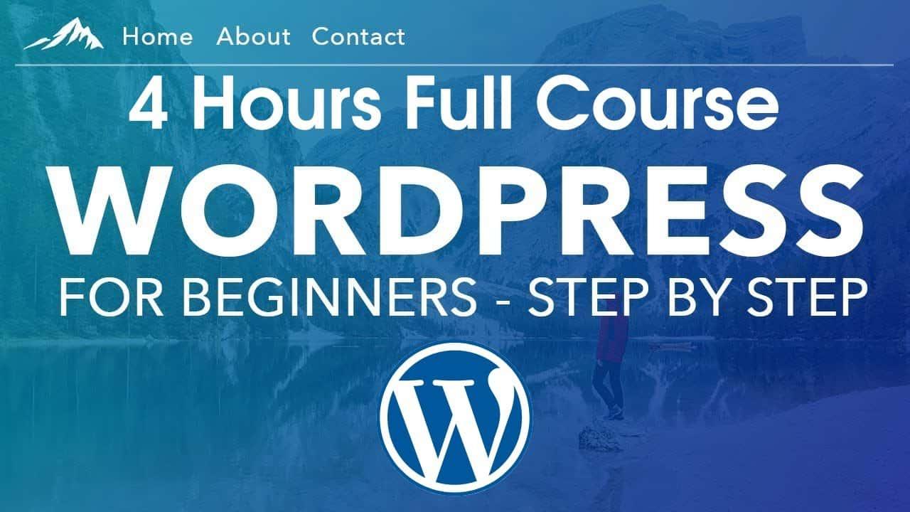 Create Make a WordPress Website Step by Step   Full 3 Hours WordPress Tutorial