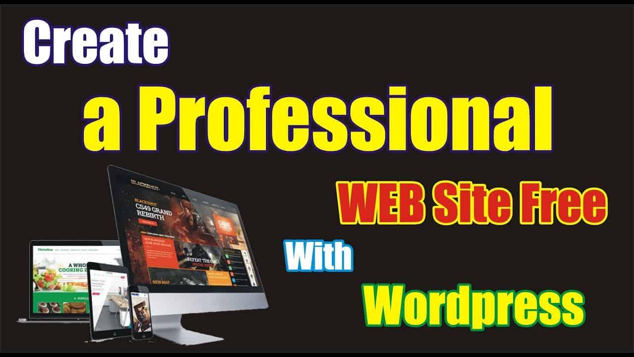 Create Professional website with wordpress    Free wordpress Site tutorial for beginners in urdu