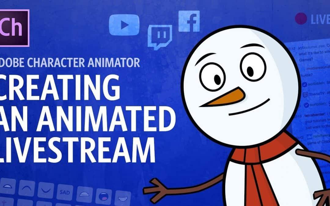 Creating An Animated Livestream (Adobe Character Animator Tutorial)