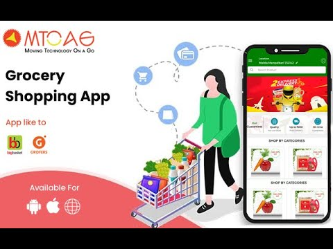 Develop Your Own Grocery Shopping App | Big Basket App Clone | grocery app development