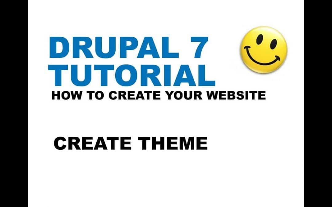 Drupal 7 Tutorial - Create Theme - How to create your website - YTJunkie.com - Part 3