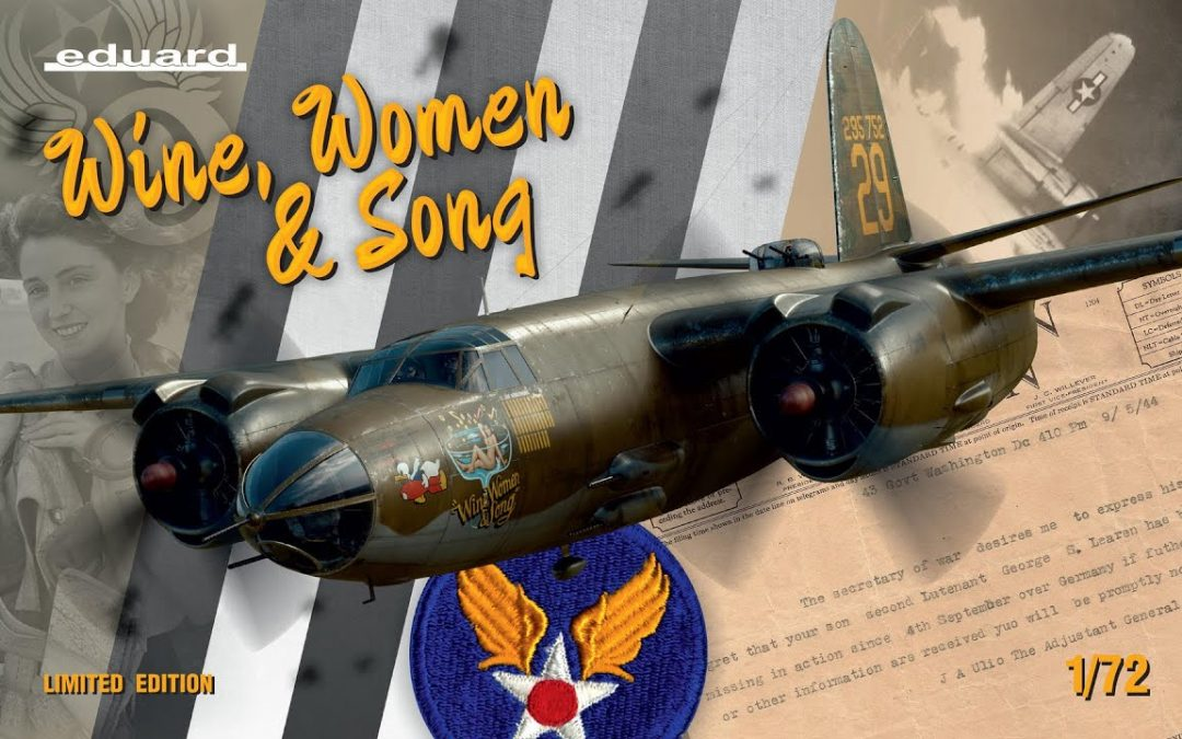 Eduard : WINE, WOMEN & SONG B-26 : 1/72 Scale Model : In Box Review