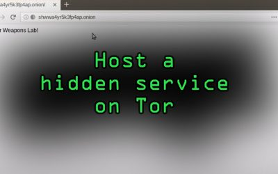 Do It Yourself – Tutorials – Host Your Own Tor Hidden Service with an Onion Address [Tutorial]