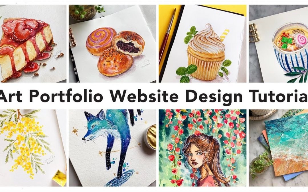 How I Created My Art Portfolio Website - Art Portfolio Tutorial