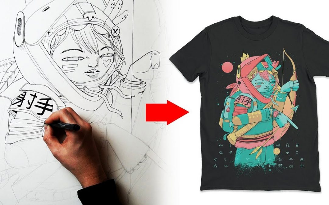 How I design a T Shirt - Clothing Art Tutorial