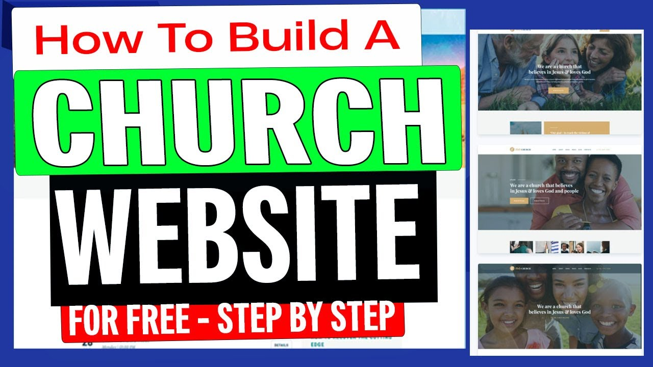 How To Build A Church Website For Free 2020 [ Step-By-Step Tutorial ]