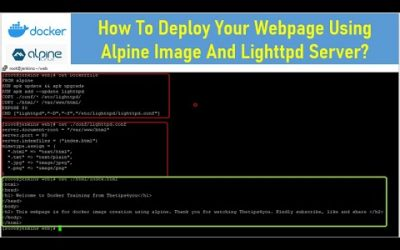 Do It Yourself – Tutorials – How To Deploy Your Webpage Using Alpine Image And Lighttpd Server?