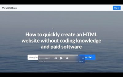 Do It Yourself – Tutorials – How to Quickly Create an HTML Website without Coding Knowledge and a Paid Software [FOR BEGINNERS]