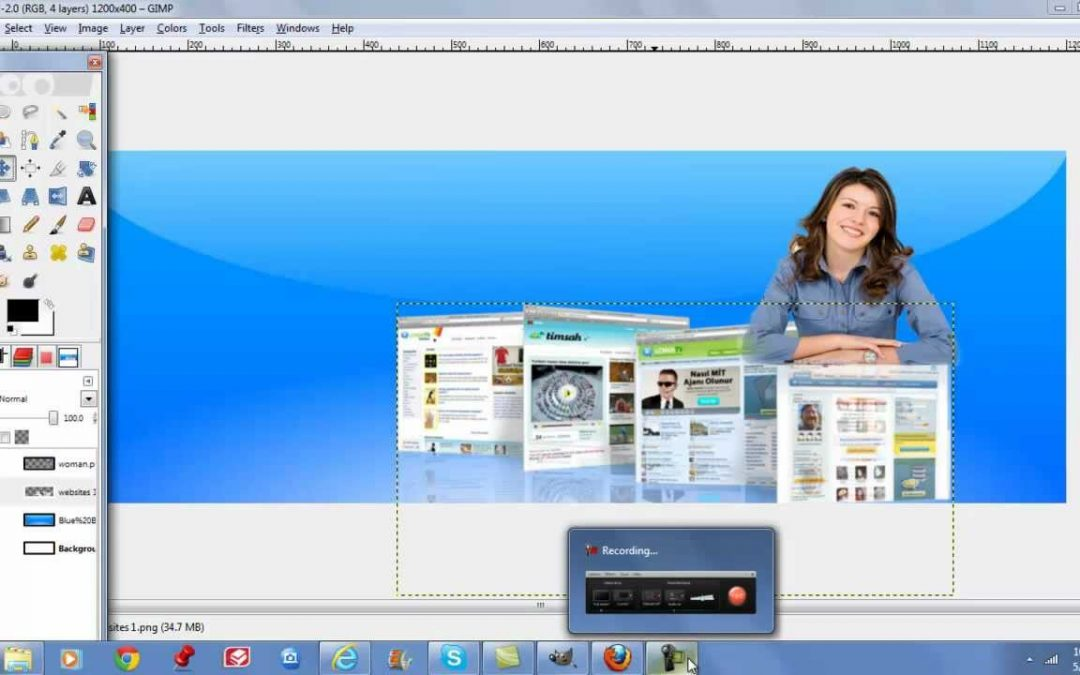 How to create headers in gimp for your websites and word press themes.