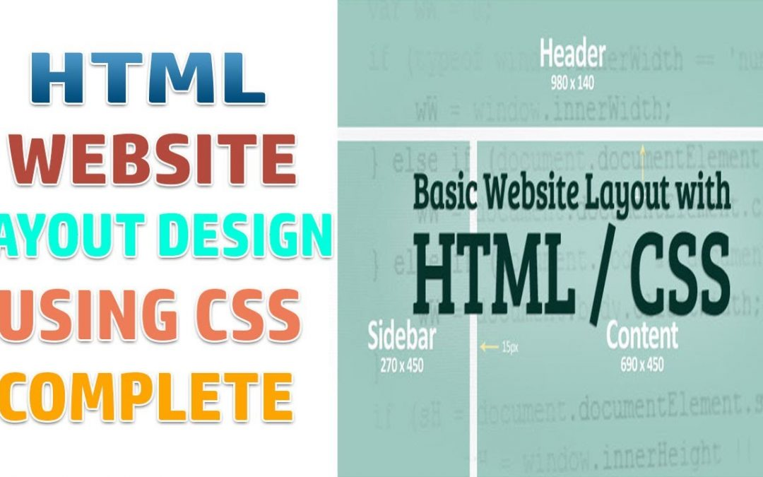 Html Coding Basics - 08 - HTML website layout complete design tutorial using CSS