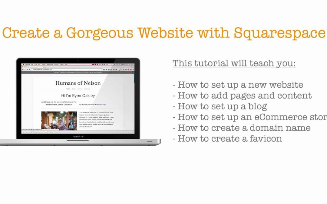 Do It Yourself – Tutorials – Intro – Create a Gorgeous Website with Squarespace